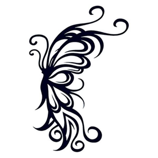 Tribal Flying Butterfly Temporary Tattoo - Tribal Flying Butterfly Temporary Tattoo