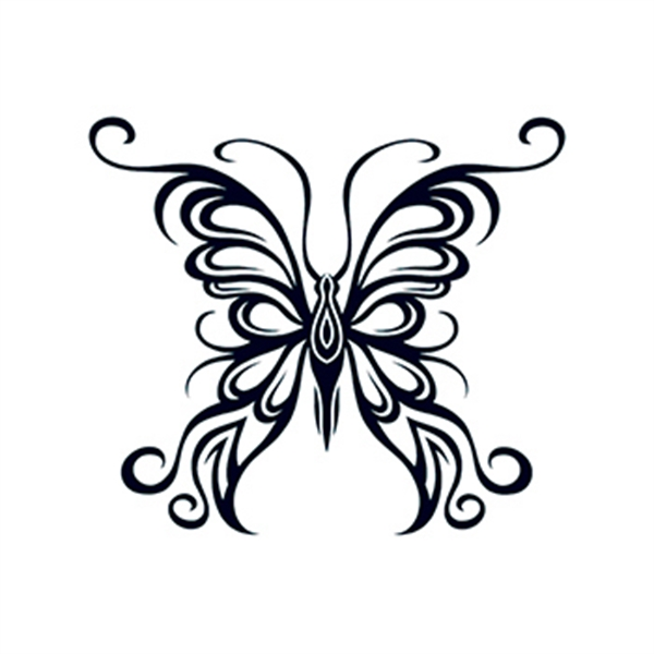 Tribal Outline Butterfly Temporary Tattoo - Tribal Outline Butterfly Temporary Tattoo