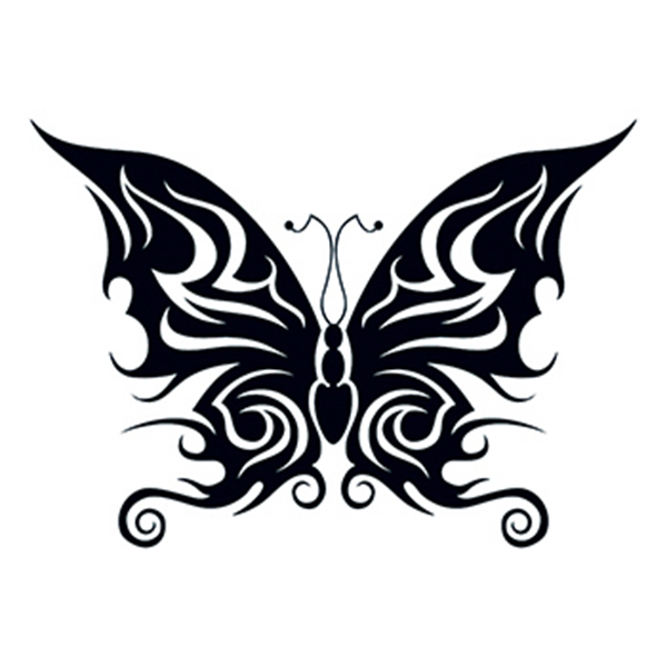Tribal Bold Butterfly Temporary Tattoo - Tribal Bold Butterfly Temporary Tattoo