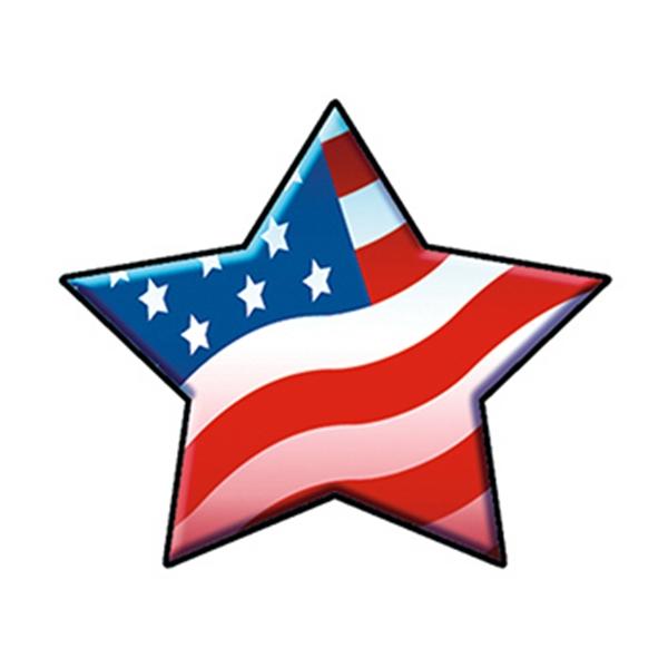 Patriotic Star Temporary Tattoo - Patriotic Star Temporary Tattoo
