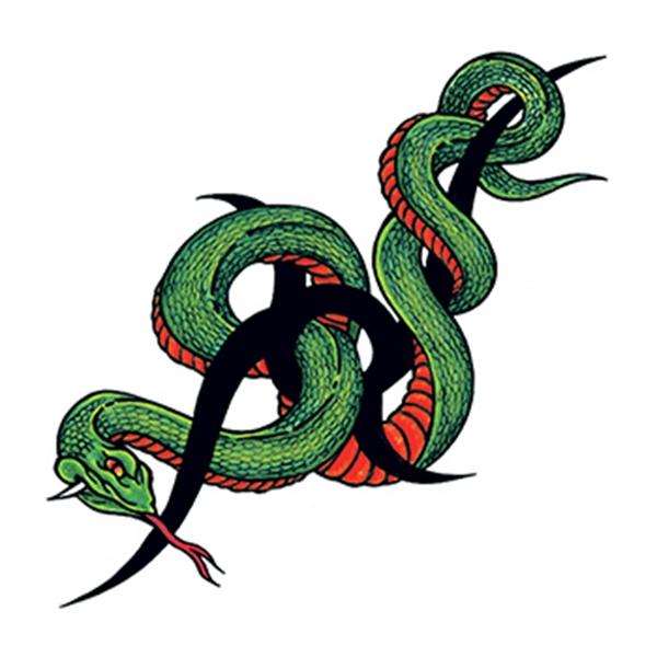 Tribal Snake Temporary Tattoo - Tribal Snake Temporary Tattoo