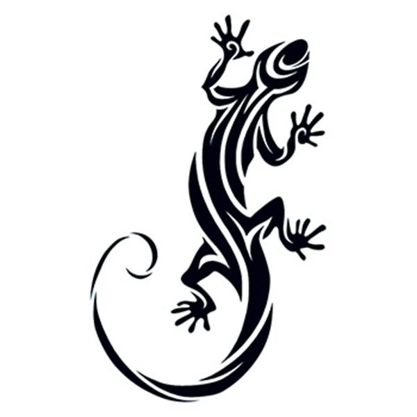 Tribal Lizard Temporary Tattoo - Tribal Lizard Temporary Tattoo