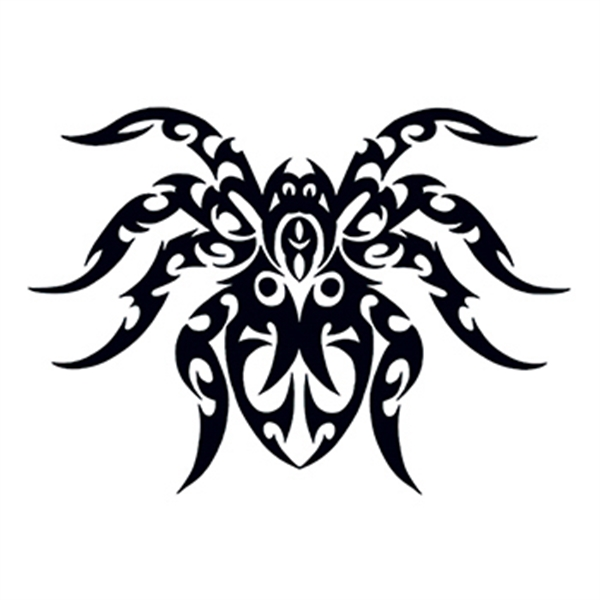 Tribal Spider Temporary Tattoo - Tribal Spider Temporary Tattoo