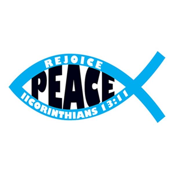 Jesus Fish: Peace Temporary Tattoo