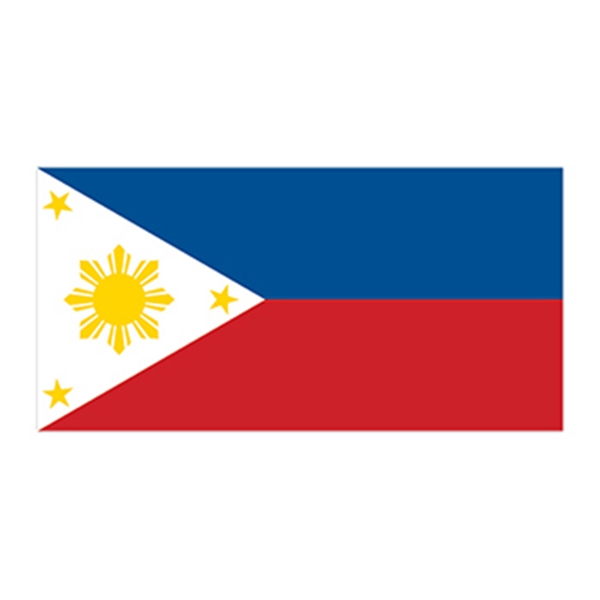 Flag of the Philippines Temporary Tattoo - Flag of the Philippines Temporary Tattoo