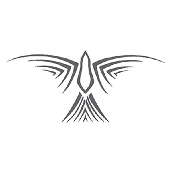 Tribal Gray Bird Design Temporary Tattoo - Tribal Gray Bird Design Temporary Tattoo
