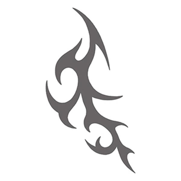 Tribal Gray Spikes Temporary Tattoo - Tribal Gray Spikes Temporary Tattoo
