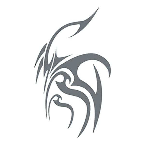 Tribal Gray Design Temporary Tattoo - Tribal Gray Design Temporary Tattoo