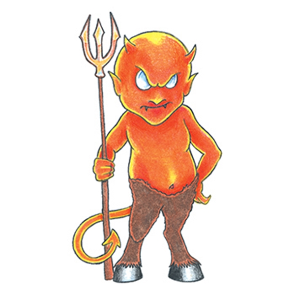 Traditional Little Devil Temporary Tattoo - Traditional Little Devil Temporary Tattoo