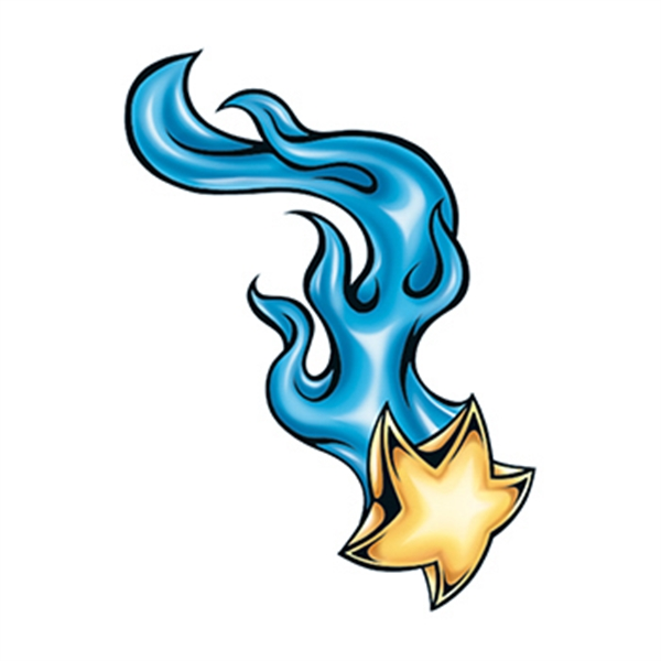 Flaming Shooting Star Temporary Tattoo - Flaming Shooting Star Temporary Tattoo