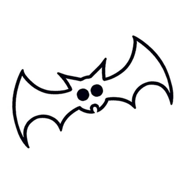Glow in the Dark Black Bat Temporary Tattoo