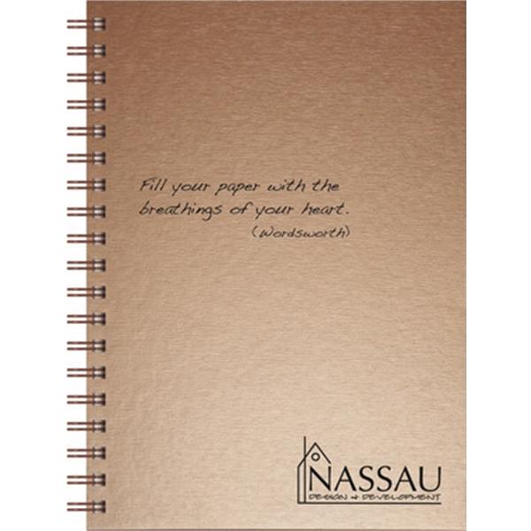 Textured Metallic Journals - Medium Note Book