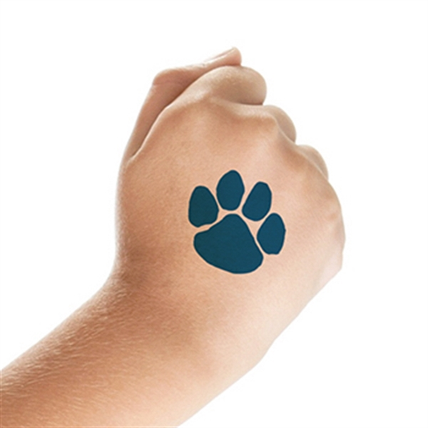 Navy blue paw print temporary tattoo for Temporary tattoo printer