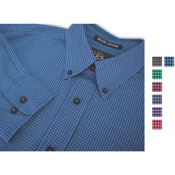 Men's Mini Plaid Stripe Gingham L/S Shirt