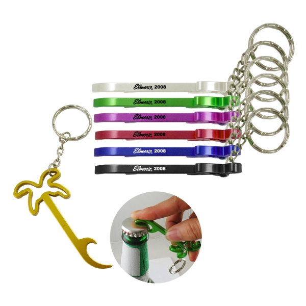 CoConut Palm Bottle Opener W/Key Chain