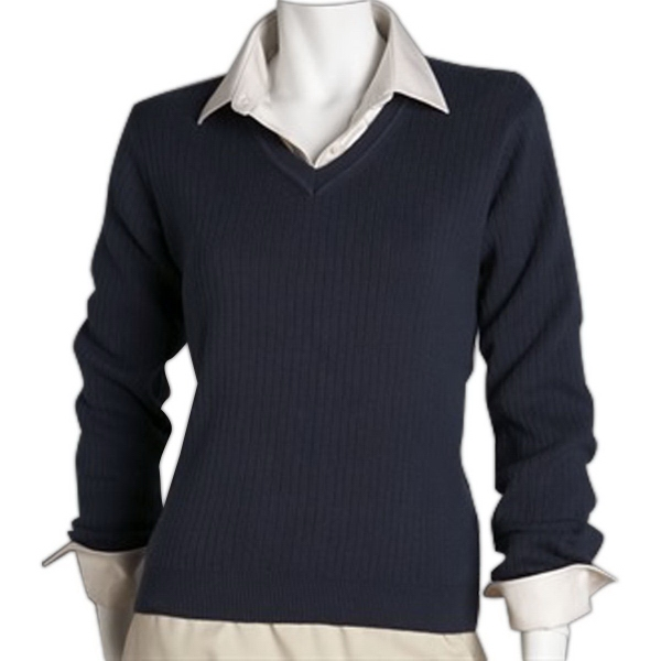 Greg Norman Women's V-Neck Drop-Needle Sweater