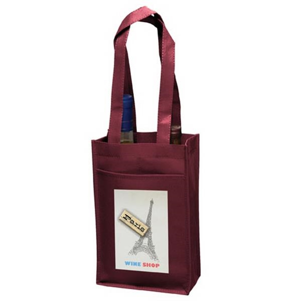 2 Bottle Bag with Velcro (R) closure strap