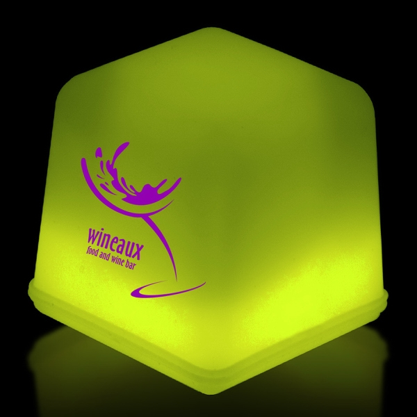 Yellow Glow Light Up Ice Cubes Packed in Tray of 24 Pieces