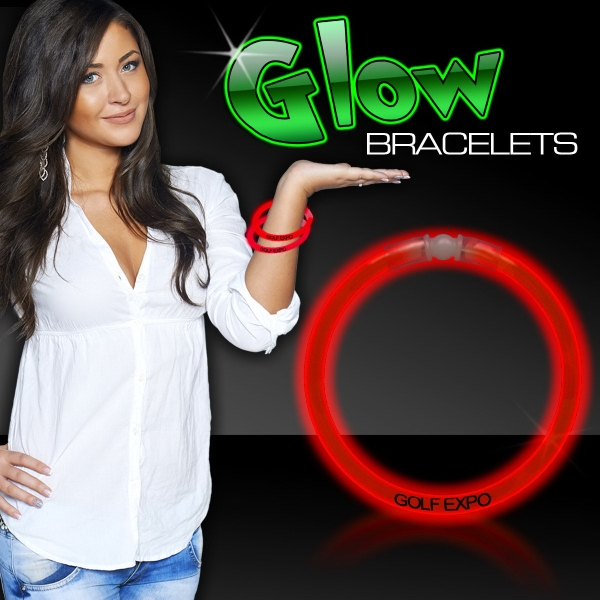 """Red 8"""" Single Color Superior Light Up Glow Bracelet - Red 8"""" Single color superior light up glow bracelet."""