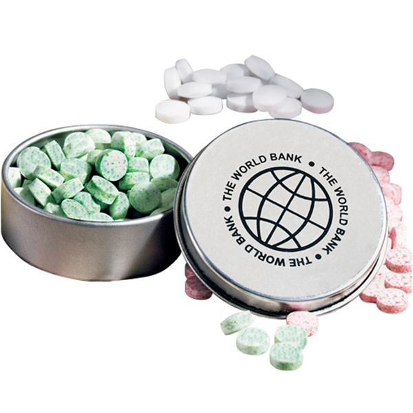 "Spearmints in Mini Round Pocket Mint Tin - Spearmints in Mini Round Pocket Mint Tin- 1 7/8"" Diameter"