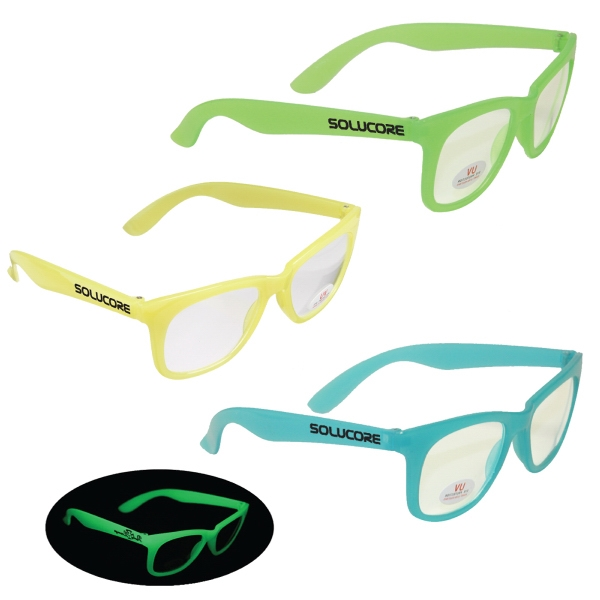 Glow Glasses with Clear Lenses