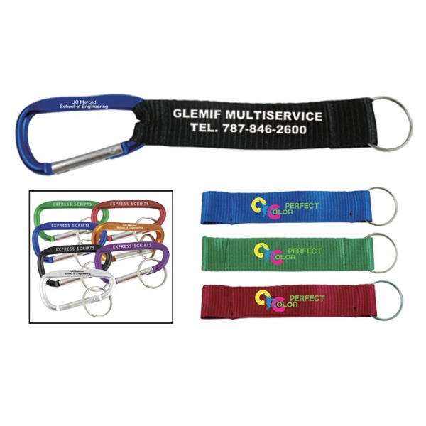 3-1/8 inch Carabiner W/Printed Strap