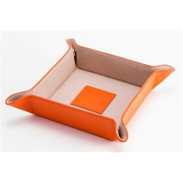 Snap Valet - Orange leather snap valet