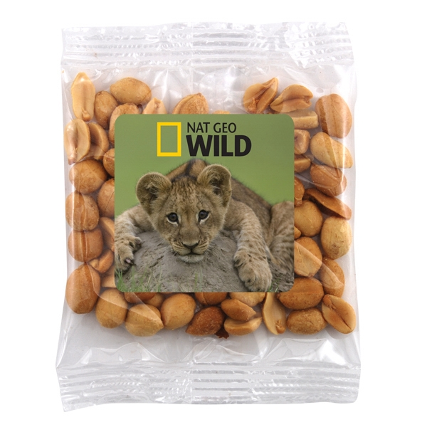 Large Bountiful Bag Full Color Label with Peanuts - Large Bountiful Bag Full Color Label with Peanuts