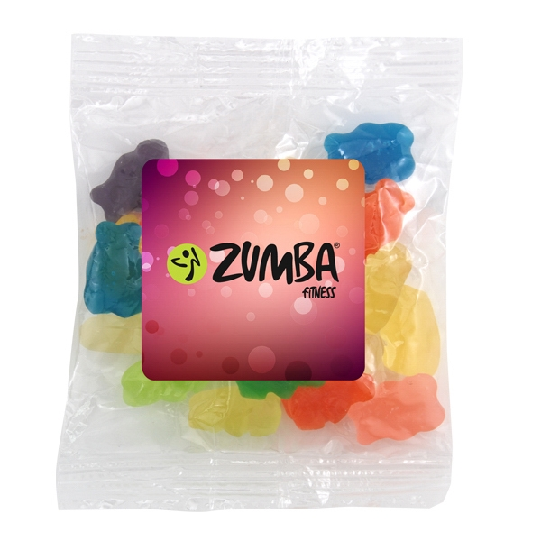 Large Bountiful Bag Full Color Label with Gummy Bears Candy - Large Bountiful Bag Full Color Label with Gummy Bears Candy