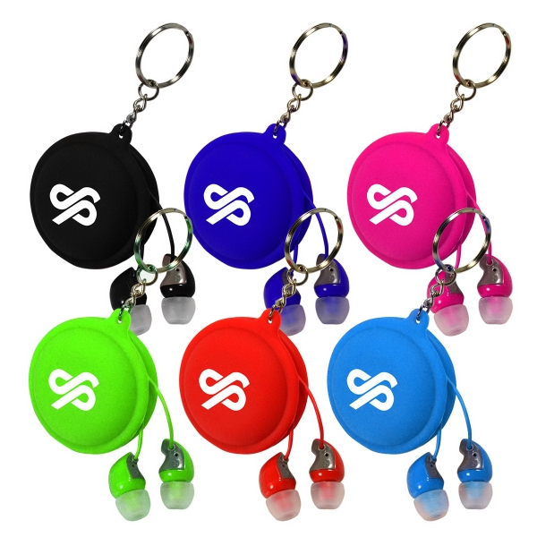 Macaroon Earbud with Keyring