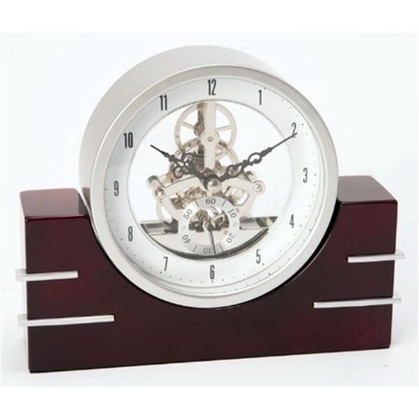 Desk Clock - Mahogany lacquered quartz clock