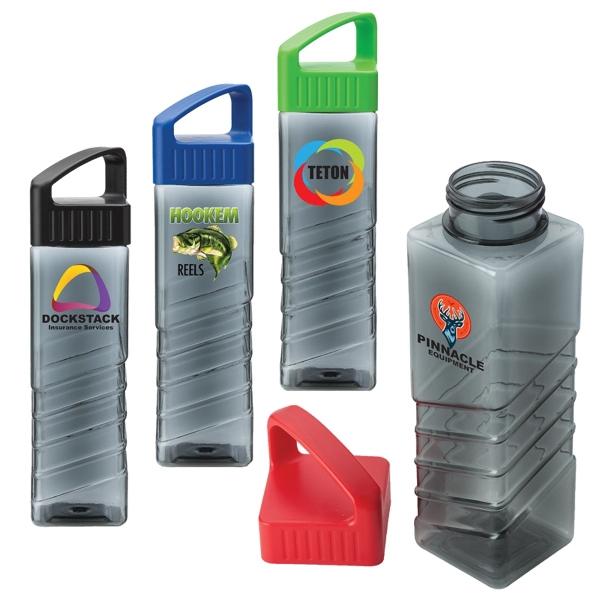 25 oz Square water bottle - Square shape 25 oz. water bottle.