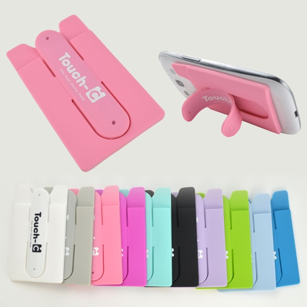 All-in-one sili-pocket stand - Smartphones silicone stand