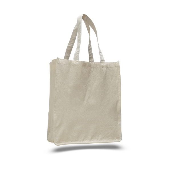 "Canvas Jumbo Shopper 14"" x 17"" Bag with 7"" Gusset"