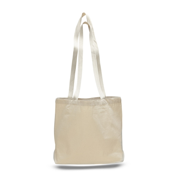 """Large Canvas Messenger 18"""" x 14"""" Bag with 4"""" Bottom Gusset"""