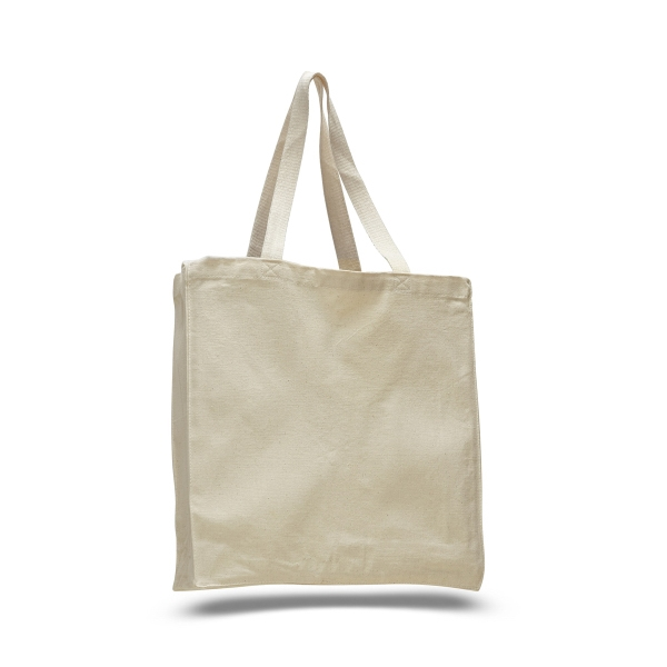 "Canvas Shopper 14"" x 15"" Bag with 4"" Gusset"