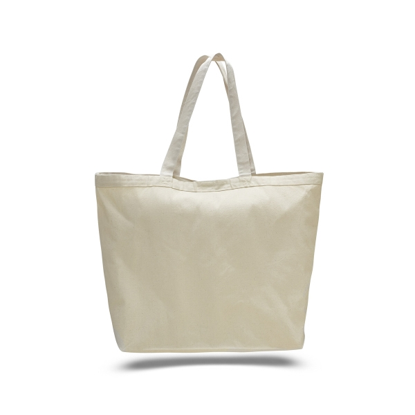 "Canvas Big Tote 23"" x 17"" with  6"" Gusset Bag"
