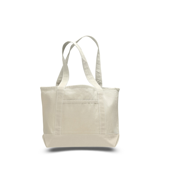 "Canvas Deluxe Tote 18.5"" x 12"" with 5.5"" Gusset Bag"