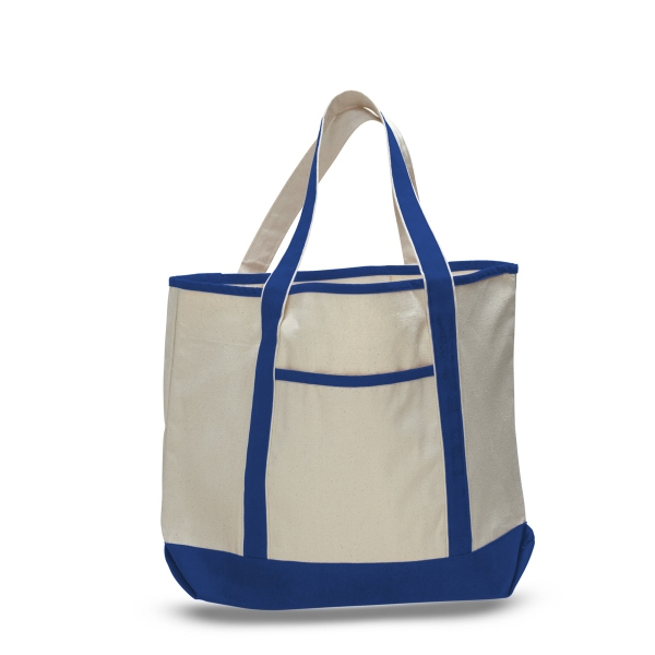 "Large Canvas Deluxe Tote 22"" x 16"" with 6"" Gusset Bag"
