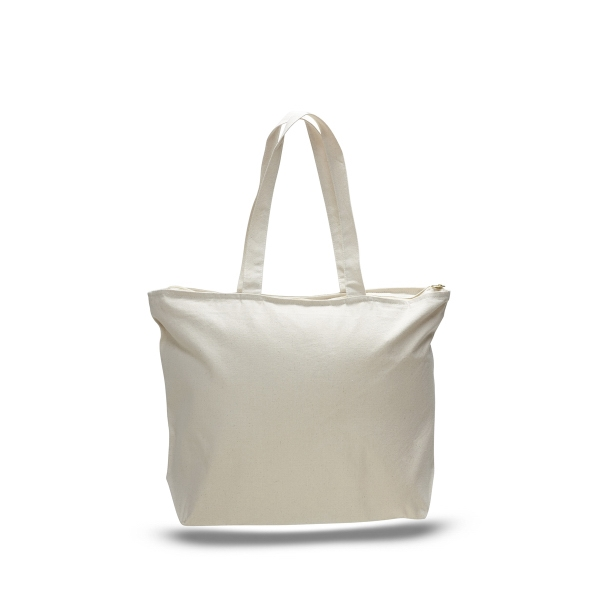 "Canvas Zipper Tote 20"" x 15"" with 5"" Gusset Bag"