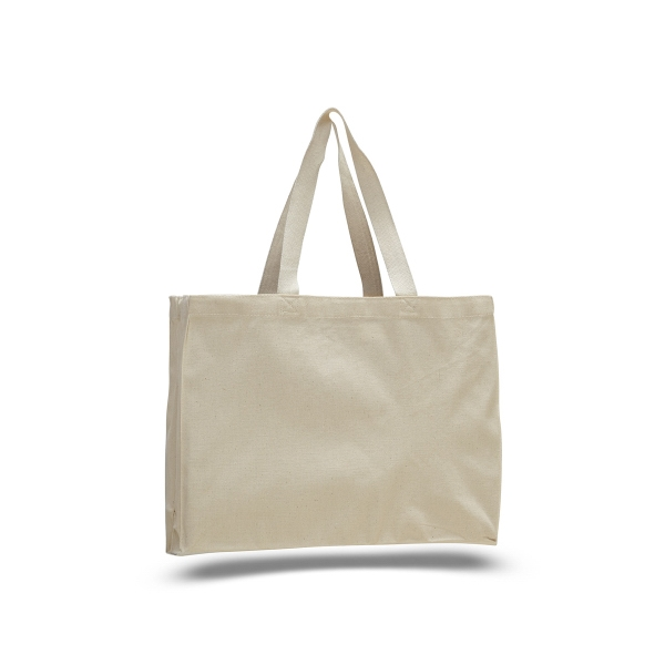 "Canvas Tote 15"" x 12"" with 4"" Gusset Bag"