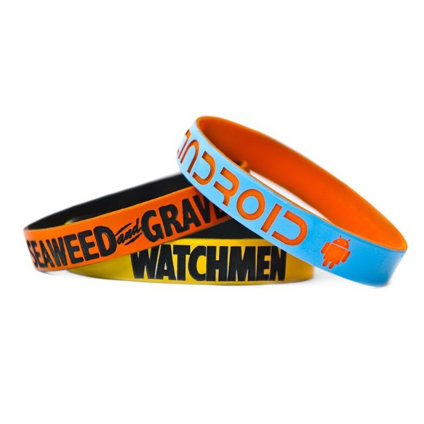 "1"" Dual Layered Color Coat Wristband"