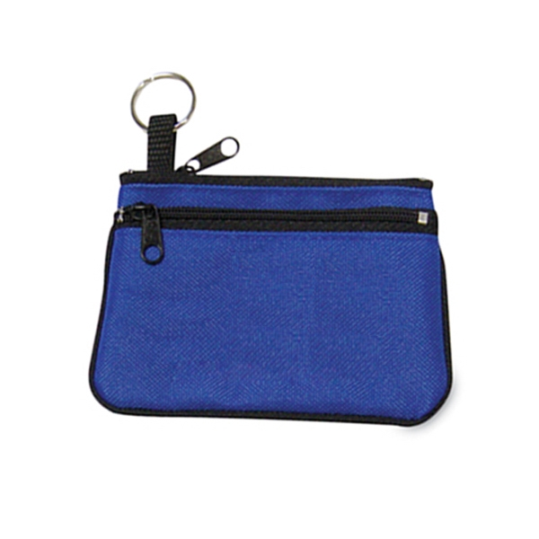 Double Zipper Coin Pouch