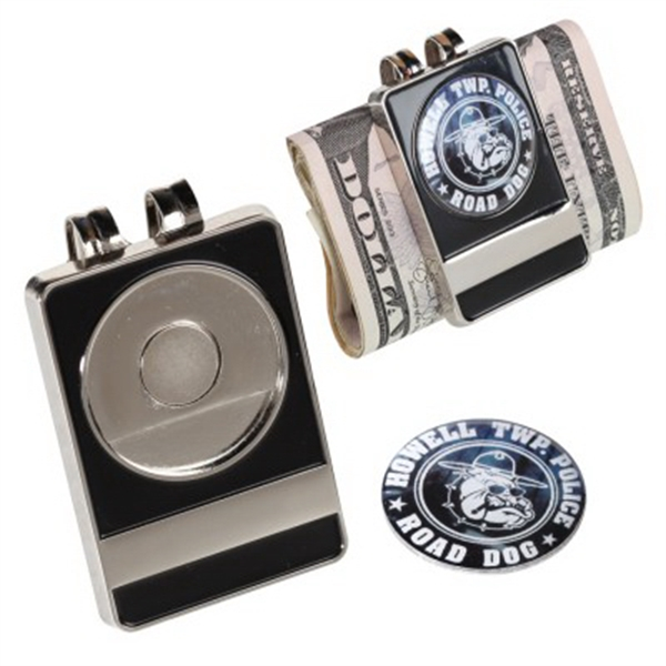 Money Clip with Removable Ball Marker