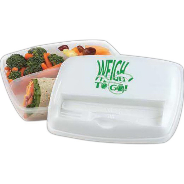 3-Section Container With Utensils