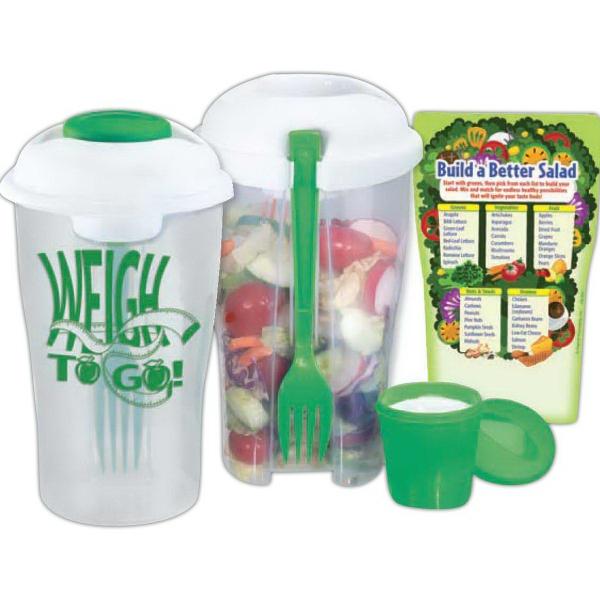 3-Piece Weigh To Go! Salad Shaker