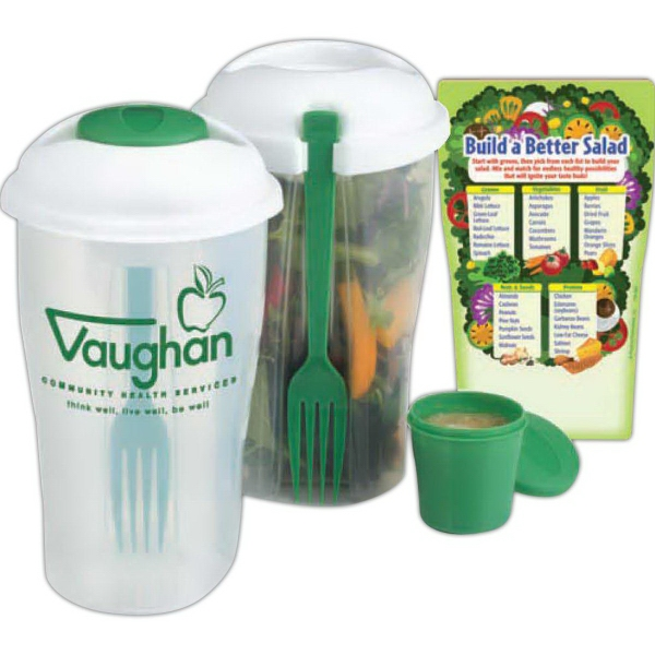 3-Piece Weigh To Go! Salad Shaker & Magnet Combo