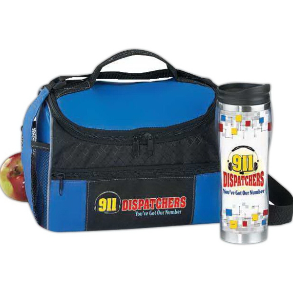 911 Dispatchers Border Lunch Cooler & Insulated Tumbler