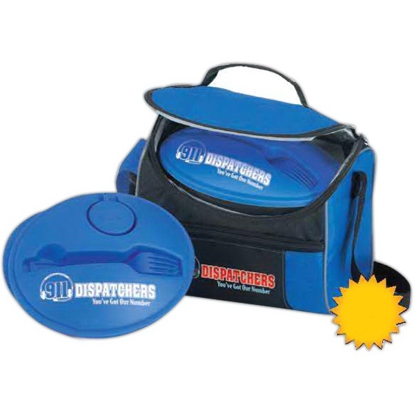 911 Dispatchers Border Lunch Cooler Food Container Gift Set