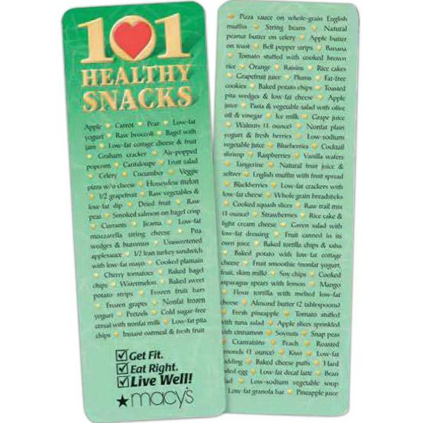 101 Healthy Snacks Bookmark